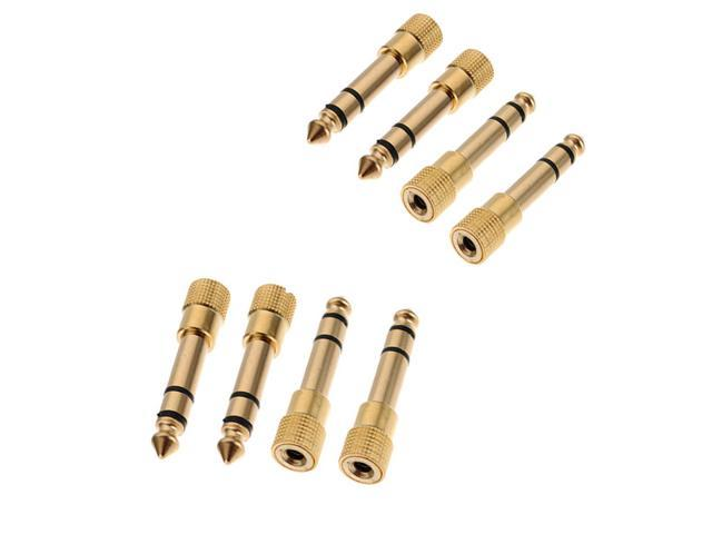 8 x Gold-Plated 6.5mm 1/4'' Male to 3.5mm 1/8'' Female M /F Headphone Stereo Audio Adapter Plug  Jack