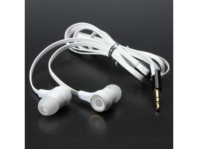 Universal In Ear In-Ear Earphone Headphone Headset Earbud Flat Cable Stereo Sound for iPod iPhone Mp3 Mp4 HTC Tablet PC  ...