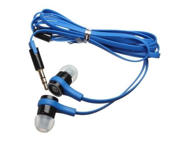 Universal In Ear In-Ear Earphone Headphone Headset Earbud Flat Cable Stereo Sound for iPod iPhone Mp3 Mp4 HTC Tablet PC  3.5mm Jack