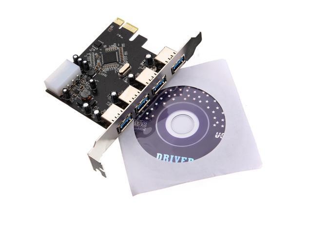New PCI-e PCI Express to 4 Port USB 3.0 VLI USB Hub Controller Card Adapter 5Gbps
