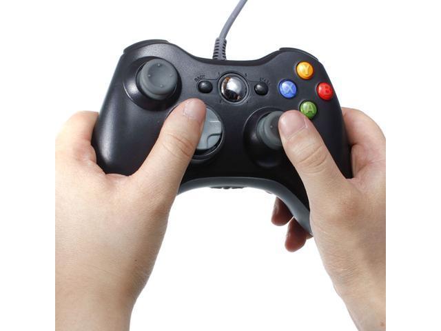 Black USB Wired Xbox 360 Controller Game Pad Joypad Joystick For Microsoft Xbox 360 PC Windows