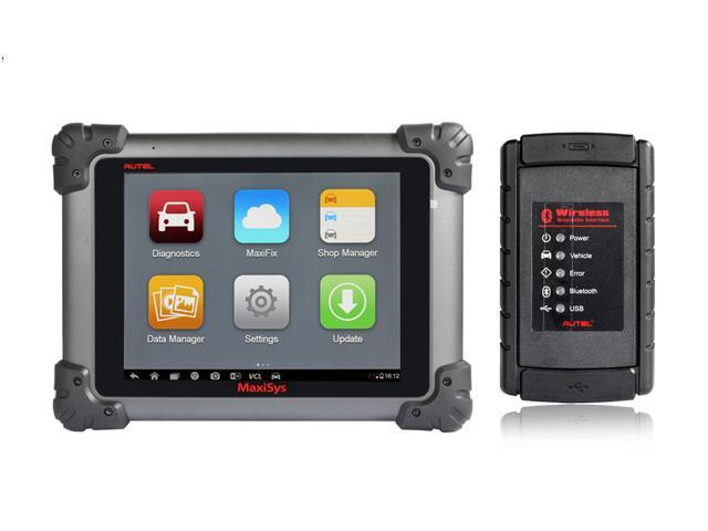 Original Autel MaxiSys MS908 WIFI/Bluetooth Smart Automotive Diagnostic and Analysis System with LED Touch Display OBD Auto ...