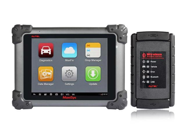 Original Autel MaxiSys MS908 WIFI/Bluetooth Smart Automotive Diagnostic and Analysis System with LED Touch Display OBD Auto Scanner