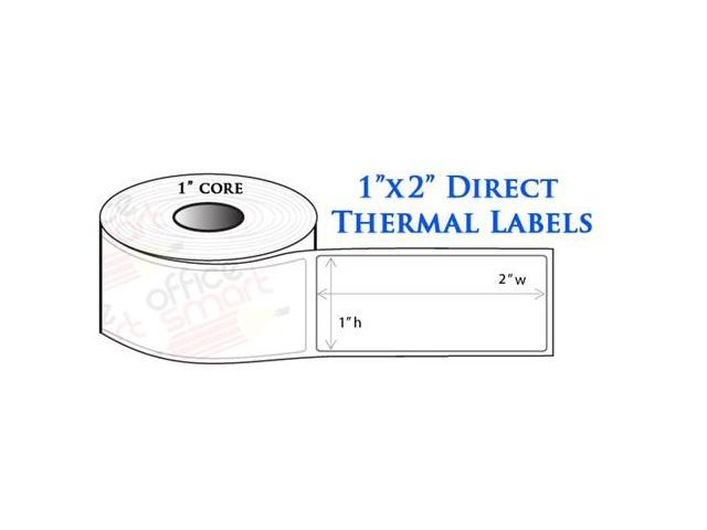 Rolls 1x2 Direct Thermal Labels for Zebra LP2824 LP2422 TLP2824 ...