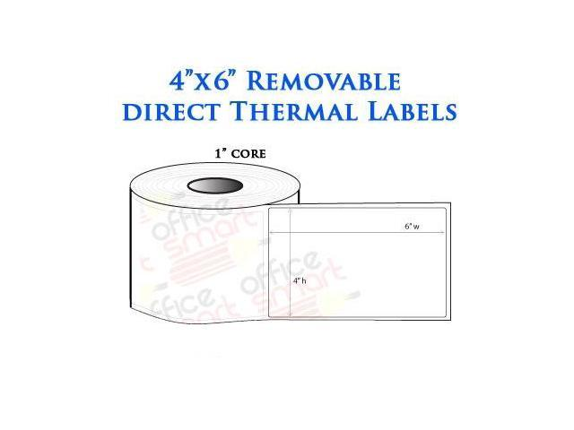 Rolls 4x6 Removable Direct Thermal Labels Zebra LP2844 LP2442 LP2844 ...