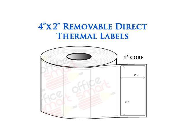 4 Rolls 4x2 Removable Direct Thermal Labels Zebra LP2844 ...