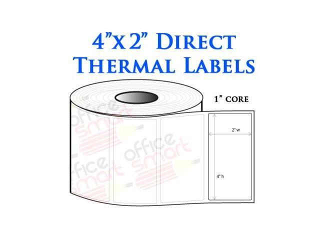 10 Rolls 4x2 Direct Thermal Labels for Zebra GC420d GC420t GK420d ...