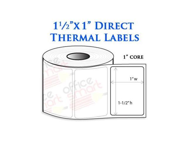 10 Rolls 1.5x1 Direct Thermal Labels for Zebra LP2824 LP2422 TLP2824 ...