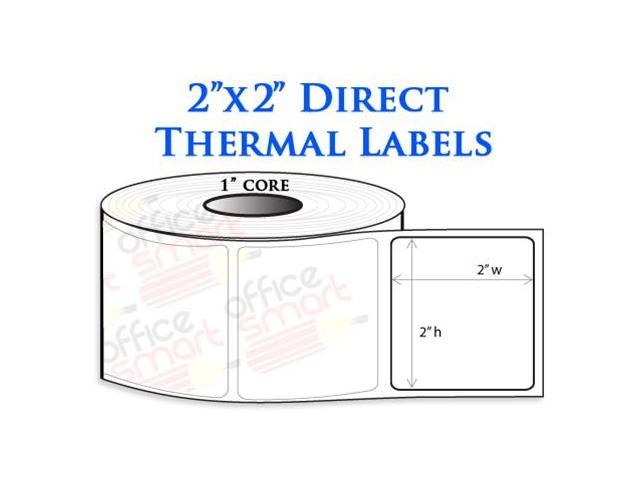 Rolls 2x2 Direct Thermal Labels for Zebra LP2824 LP2422 TLP2824 ...