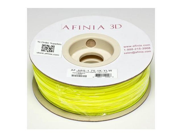 AFINIA Value-Line Yellow ABS Filament for 3D Printers