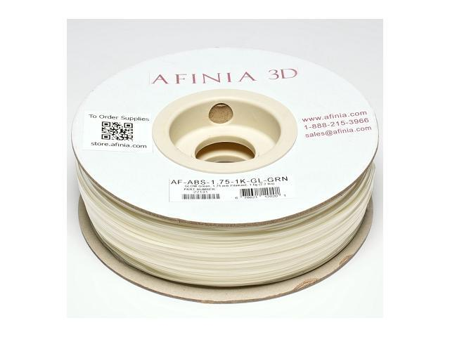 AFINIA Value-Line Glow-in-the-Dark Green ABS Filament for 3D Printers - OEM