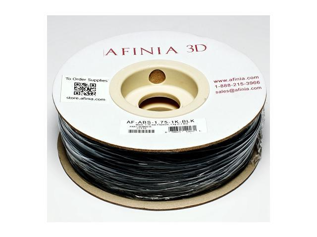 AFINIA Value-Line Black ABS Filament for 3D Printers - OEM