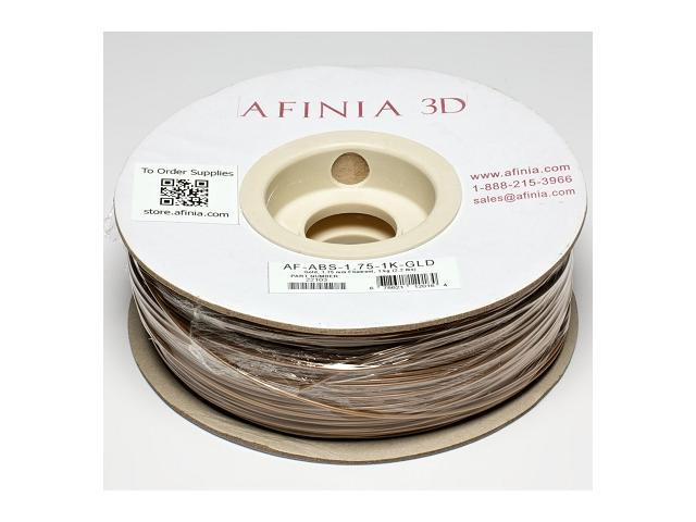 AFINIA Value-Line Gold ABS Filament for 3D Printers - OEM