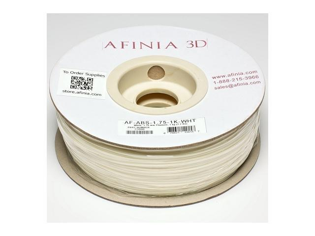 AFINIA Value-Line White ABS Filament for 3D Printers - OEM