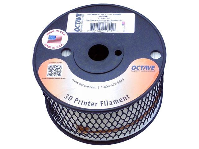 Taulman 3D 618 Natural Nylon Filament for 3D Printer 1.75mm 1lb Spool MADE IN USA