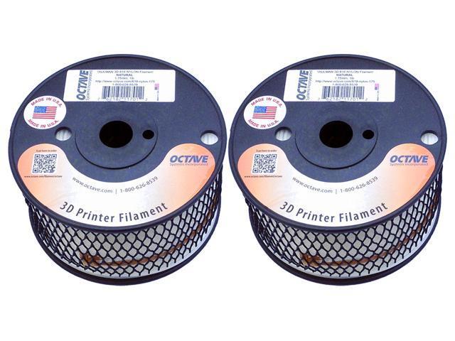 Taulman 3D 618 Natural Nylon Filament for 3D Printer 1.75mm 2 1lb Spool Bundle