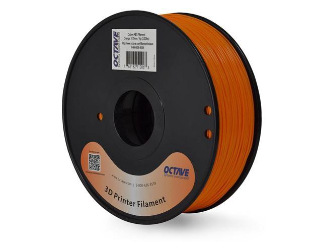 Octave 1.75mm Orange ABS Filament 1kg (2.2lbs) Spool for Reprap, MakerBot, Afinia and UP! 3D Printer