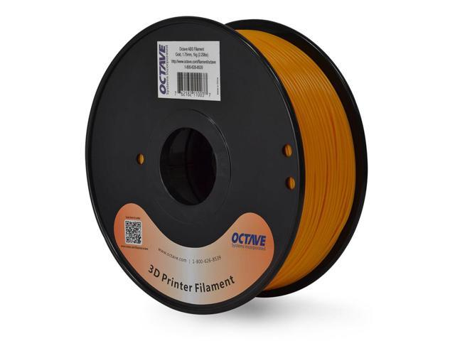 Octave 1.75mm Gold ABS Filament 1kg (2.2lbs) Spool for Reprap, MakerBot, Afinia and UP! 3D Printer