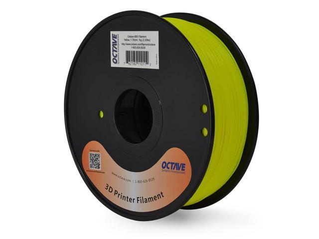 Octave 1.75mm Yellow ABS Filament 1kg (2.2lbs) Spool for Reprap, MakerBot, Afinia and UP! 3D Printer