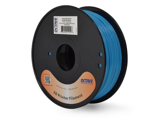 Octave 1.75mm Blue / Blue GLOW IN THE DARK 3D Printer ABS Filament 1kg (2.2lbs) Spool