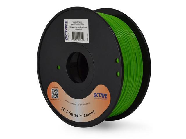 Octave 1.75mm Green ABS Filament 1kg (2.2lbs) Spool for Reprap, MakerBot, Afinia and UP! 3D Printer