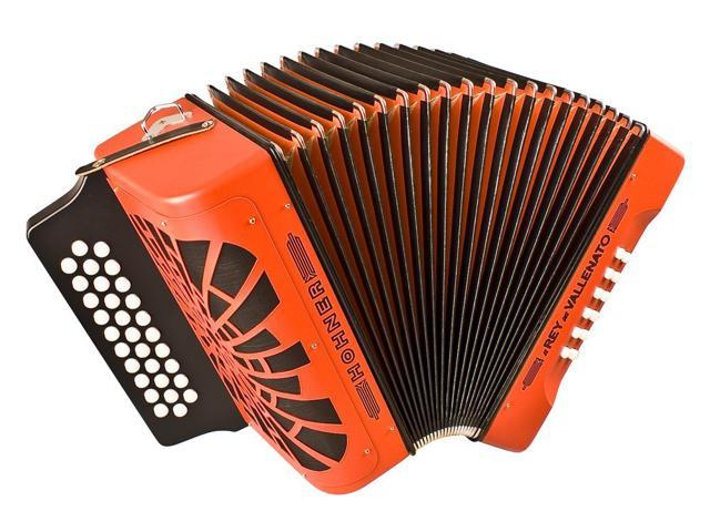 Hohner El Rey Del Vallenato GCF, Orange [Electronics]