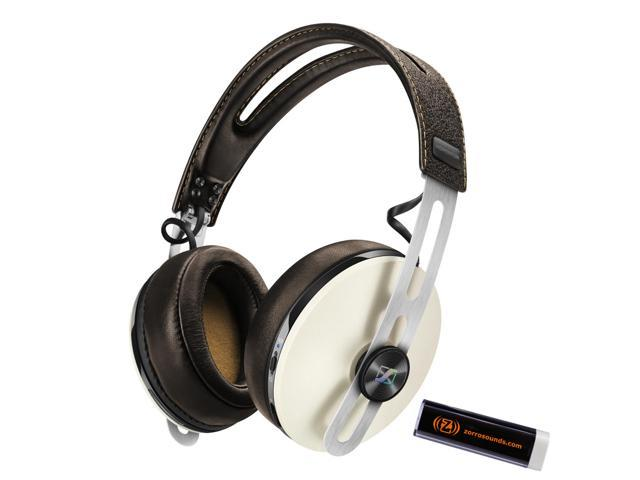 Sennheiser M2 AEW Ivory Momentum 2.0 Wireless Over-ear Headphones with Zorro Sounds charger
