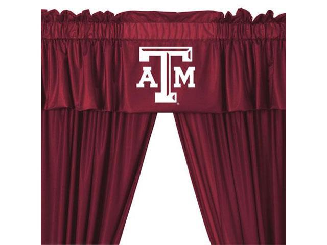 NCAA Texas AM Aggies College 5pc Valance-Curtains Set