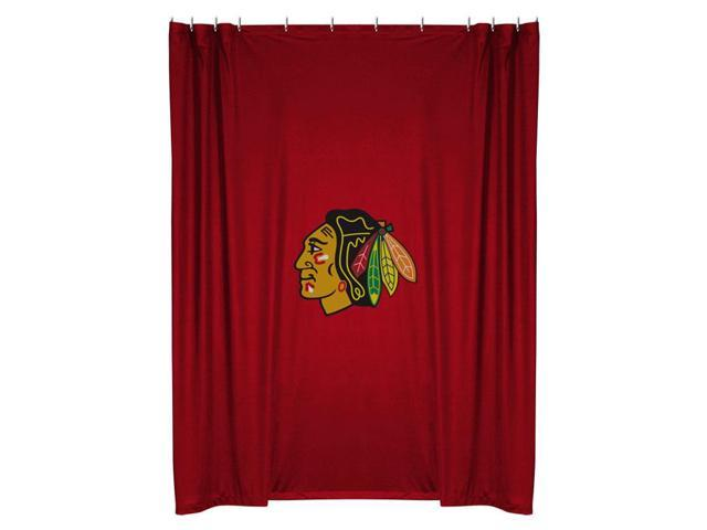 NHL Chicago Blackhawks Shower Curtain Bathroom Accessories - Newegg ...