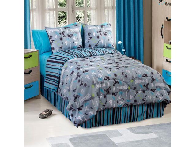 Extreme Sports Comforter Set On the Edge 4pc Full Bedding