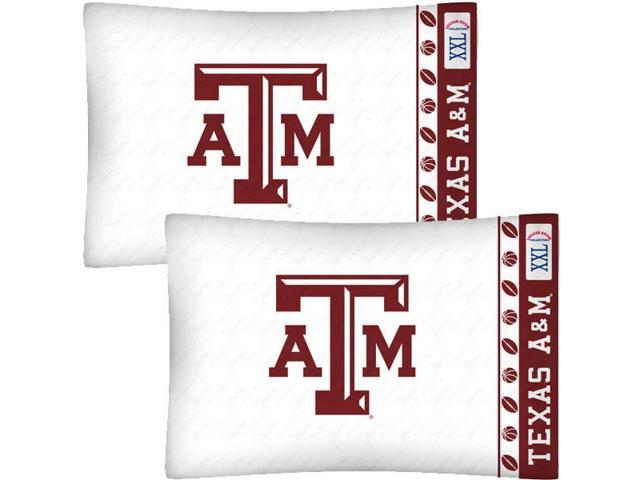 NCAA Texas A-M Aggies Football Set of Two Pillowcases