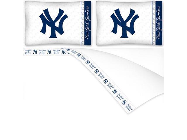 MLB New York Yankees Baseball Queen Bed Sheet Set