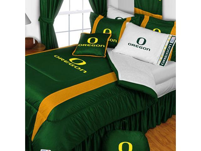 Oregon Ducks Queen Comforter Set College Team Logo Bedding
