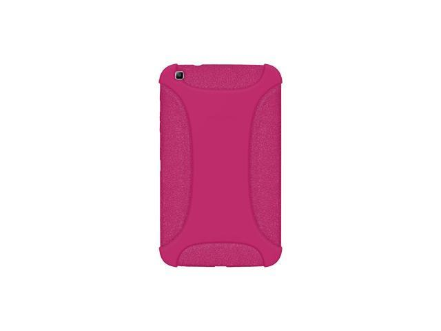 AMZER SILICONE SOFT JELLY SKIN FIT CASE COVER FOR SAMSUNG GALAXY TAB 3 8.0 SM-T310/ SM-T3100/ SM-T315 - HOT PINK