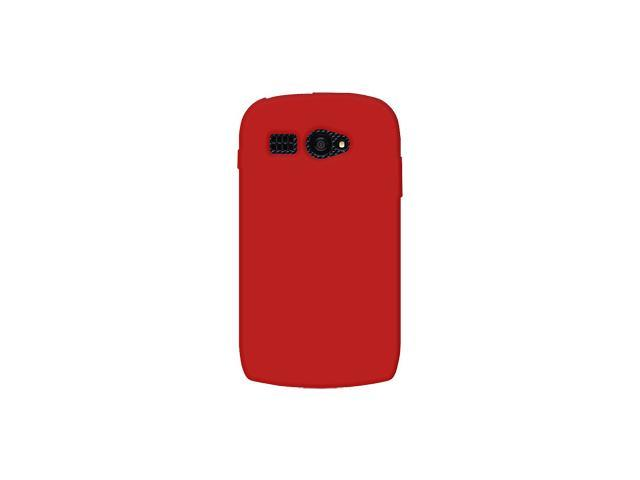 Amzer Soft Silicone Jelly Skin Fit Case Cover for Kyocera Hydro C5170  - Red