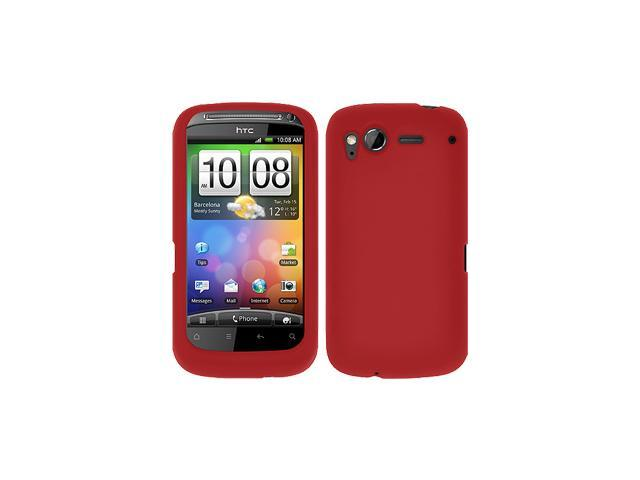 Amzer Silicone Skin Jelly Case for HTC Desire S -  Maroon Red
