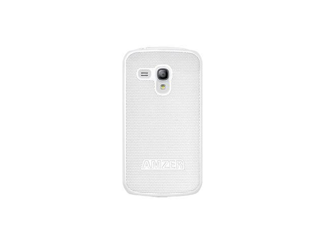 Amzer AMZ95120 Hard Shell Snap On Case Cover for Samsung Galaxy S 3 III mini I8190 - White