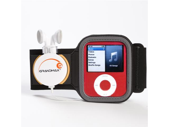 Grandmax Music Band-It Armband with Retractable Earphone for iPod Nano 3rd Generation