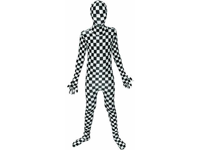 Morph Costume Black/White Check Kids Morphsuit
