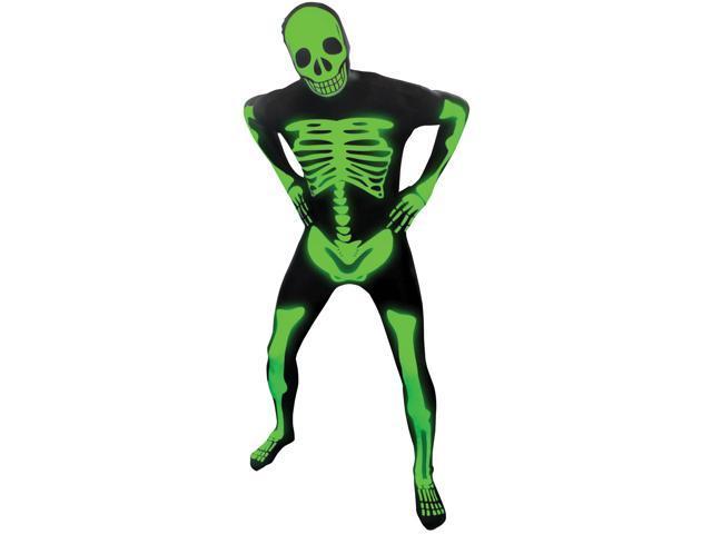 Morph Costume Glow Skeleton Adult Morphsuit