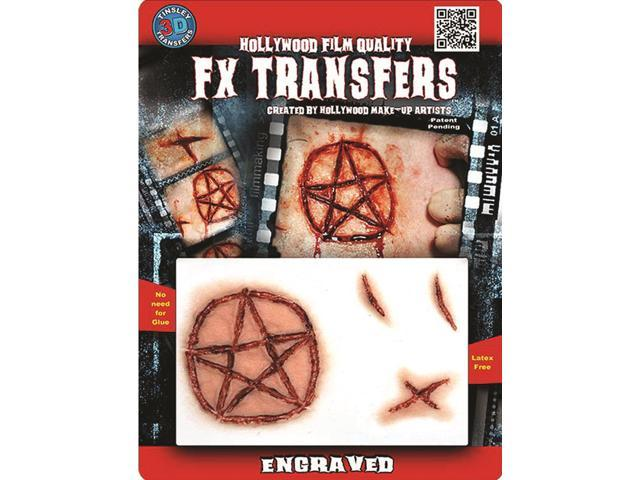 Tinsley Transfers  Engraved Fx Transfer 3pc Temporary Tattoos Red Beige