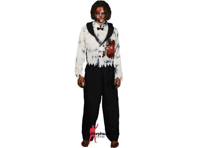 White Beating Heart Zombie Male Unisex Adult Morph Costumes Adult Costume Medium