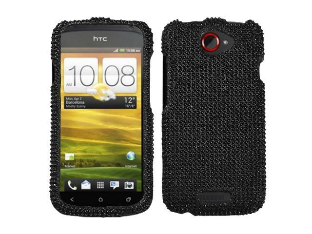 Black Jewel Diamante Bling Hard Cover Protector Case for HTC One S