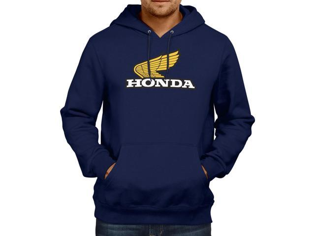 Retro 1970s Honda Motorcycles Emblem Logo Unisex Hooded Sweater Fleece Pullover Hoodie