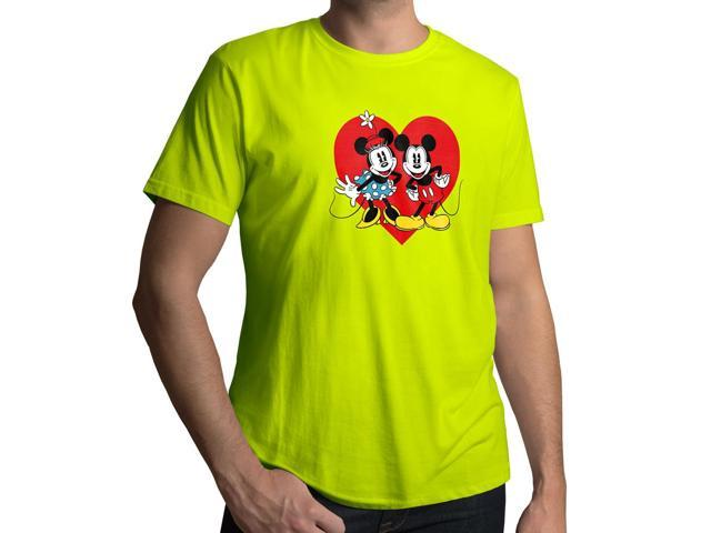 Men's Disney Mickey and Minnie Mouse 100% Cotton Crew Neck T-Shirt