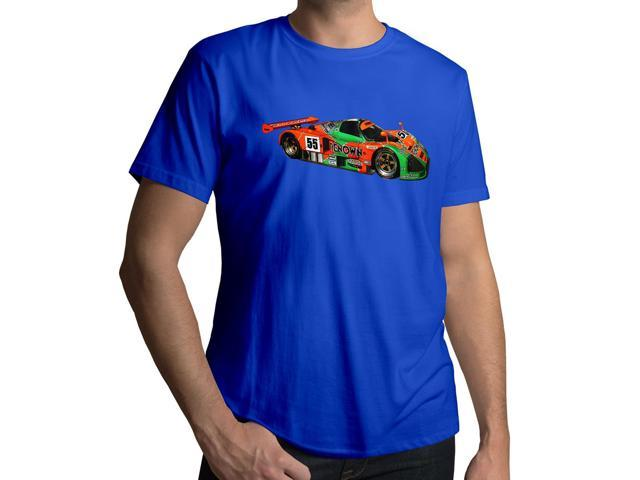 Men's Mazda 787B Le Man Race Car Sketch 100% Cotton Crew Neck T-Shirt