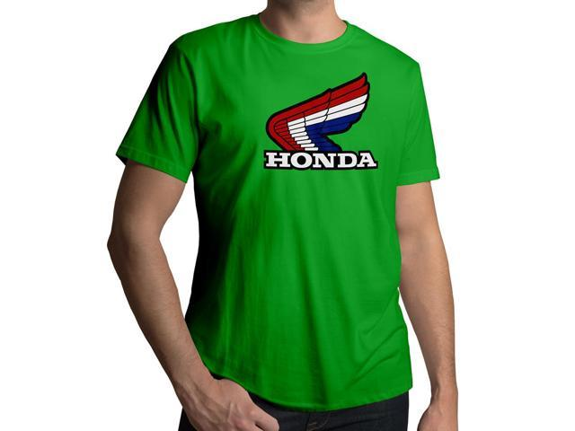 Men's Retro 1980s Honda Motorcycles Emblem Logo 100% Cotton Crew Neck T-Shirt