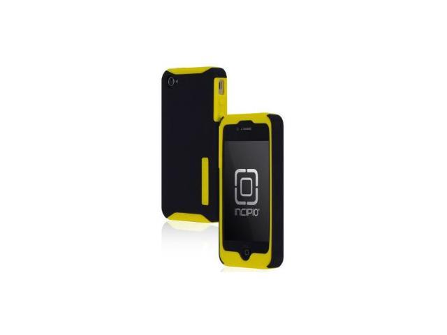 APPLE IPHONE 4 / IPHONE 4S INCIPIO SILICRYLIC HARD SHELL CASE WITH SILICONE CORE - YELLOW AND BLACK - RETAIL PACKAGED