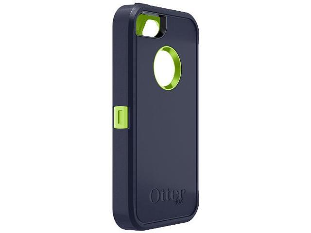 OtterBox Defender Series Case for iPhone 5 Punk Lime (Green and Dark Blue)