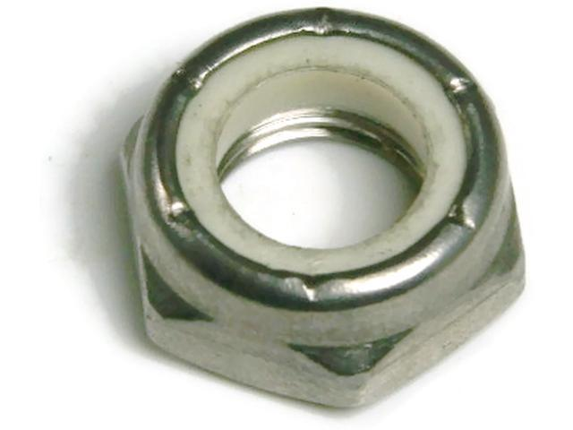 Stainless Steel Nylon Insert Jam Thin Lock Nut #4-40, Qty 100